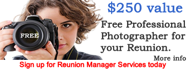 Free Professional Photographer for your reunion